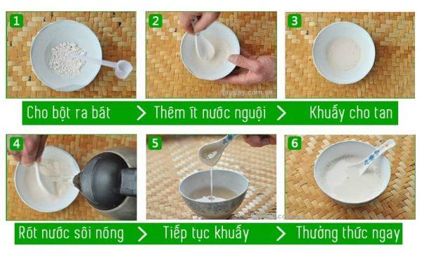 Cách thức pha uống chín bột sắn dây